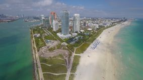 Aerial video Miami Beach stock video footage