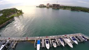 Aerial video Miami Beach Marina stock video