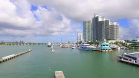 Aerial video Miami Beach Marina 4k stock video