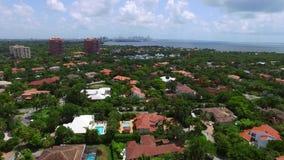 Aerial video of Miami Cocoplum stock video