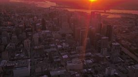 Aerial Canada Montreal July 2017 Sunrise 4K Inspire 2 stock footage