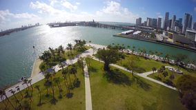 Aerial video Museum Park Downtown Miami stock video