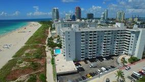 Aerial video Ocean Drive Miami Beach FL stock footage
