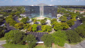 Aerial video of an office building 2 stock video