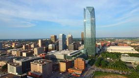 Aerial video of Oklahoma City stock footage
