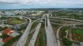 Aerial video Overtown Miami 4k stock video footage