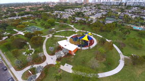 Aerial video of a park stock footage