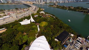Aerial video of Parrot Jungle Miami Royalty Free Stock Image