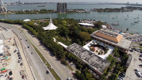 Aerial video of Parrot Jungle Miami Stock Photo
