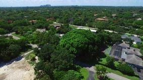 Aerial video Pinecrest FL stock footage