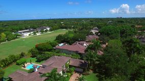 Aerial video of Pinecrest Miami fL stock video