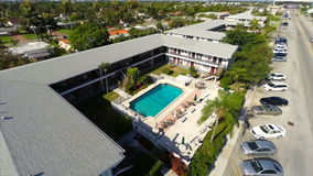 Aerial video of rental housing in Hallandale FL Royalty Free Stock Photos