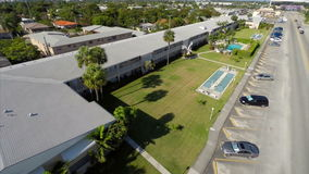 Aerial video of rental housing in Hallandale FL Stock Image