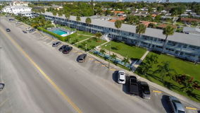 Aerial video of rental housing in Hallandale FL Stock Images
