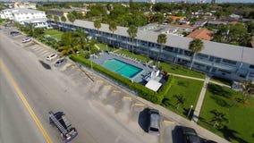 Aerial video of rental housing in Hallandale FL stock video