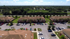 Aerial video of a residential community stock video footage