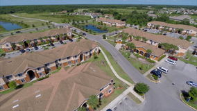 Aerial video of a residential community stock footage