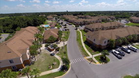 Aerial video of a residential rental community Stock Photo