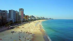 Aerial Fly over Ipanema in Rio de Janeiro City stock footage