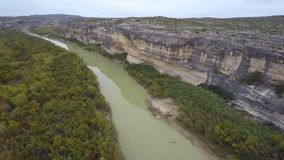 Aerial video Rio Grande Texas stock video footage
