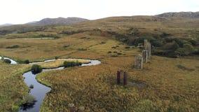 Owencarrow viaduct aerial stock video
