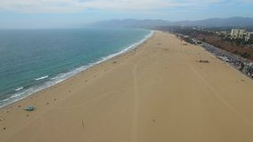 Aerial video of Santa Monica CA stock video footage