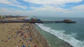 Aerial video of Santa Monica CA stock footage