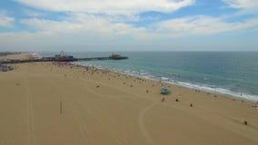Aerial video of Santa Monica CA stock video