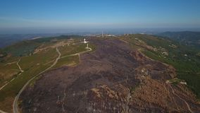 Aerial. Video shooting of the drone, Mount Foia Monchique Portugal stock video footage