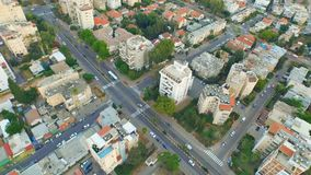 Aerial video shooting of the residential district Royalty Free Stock Photography
