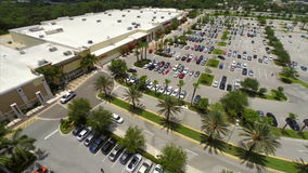 Aerial video of a shopping center stock video