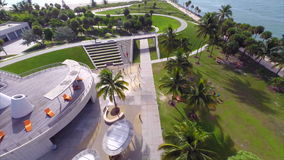 Aerial video South Pointe Park stock footage