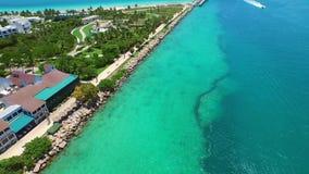 Aerial video South Pointe Park stock footage