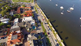 Aerial video of A1A and St Augustine Florida stock video footage