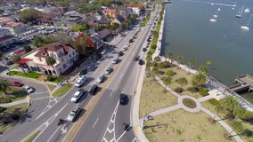 Aerial video of St Augustine Florida Stock Photography