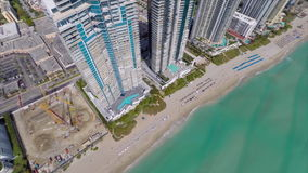 Aerial video of Sunny Isles Baech Royalty Free Stock Images