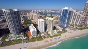 Aerial video Sunny Isles Beach FL stock video