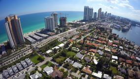 Aerial video of Sunny Isles Beach FL. USA stock video footage