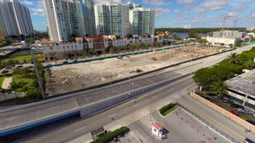 Aerial video Sunny Isles residential buildings stock video
