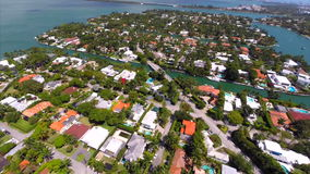 Aerial video of Sunset Harbour Islands stock video
