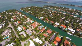 Aerial video of Sunset Harbour Islands Royalty Free Stock Images
