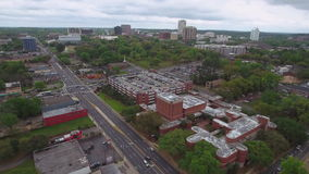 Aerial video of Tallahassee Florida stock video