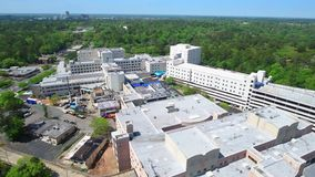 Aerial video Tallahassee Memorial Hospital stock video