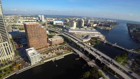 Aerial video of Tampa 4k uhd video stock footage