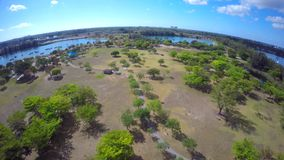 Aerial video Tropical Park Miami 4k. 4k drone video of Tropical Park Miami FL USA stock footage