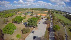 Aerial video Tropical Park Miami 4k stock footage