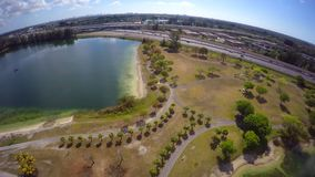 Aerial video Tropical Park Miami 4k. 4k drone video of Tropical Park Miami FL USA stock video