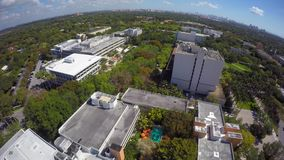 Aerial video University of Miami 4k clip 2 stock video footage