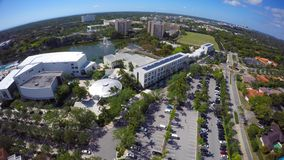 Aerial video University of Miami 4k clip 4 stock footage