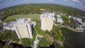 Aerial video University of Miami 4k clip 5 stock footage